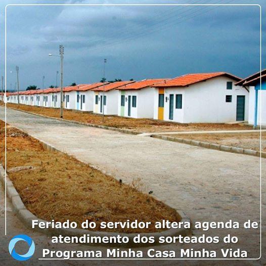 Feriado muda atendimento dos sorteados do programa Minha Casa Minha Vida (Foto: Divulgação)